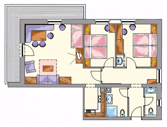 Layout Apartment no.2