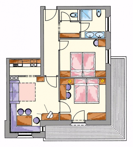Layout Apartment 3
