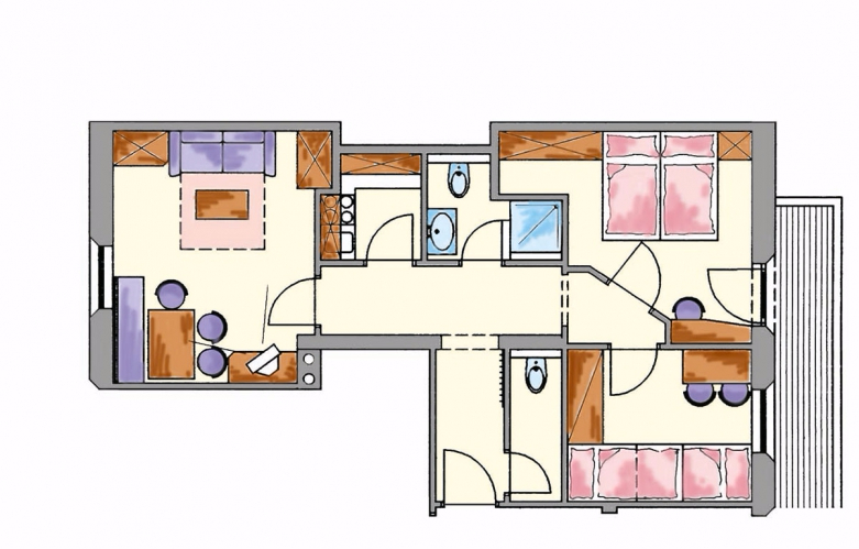 Layout apartment 4
